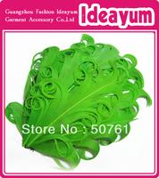 Single Color Wholesale Nagorie Curly Feather Pads 60pcs/lot