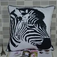 45*45 CM Fashion Designer Zebra Print Microfiber Fabric Throw Pillowcase Pillow Cover for Sofa Chair