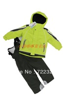 Free shipping Children male female child outdoor ski suit set outdoor jacket outerwear wadded jacket cotton-padded jacket