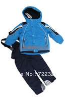 Free shipping Baby dresses children windproof ski suit set outdoor sportswear jacket wadded jacket cotton-padded jacket