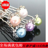 Wholesale lot. New 2013 hair accessories for women fashion beads hair accessories the hair pin for wedding