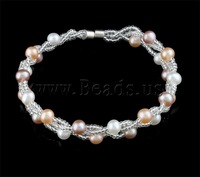 Free shipping!!!Freshwater Cultured Pearl Bracelet,Brand jewelry, Cultured Freshwater Pearl, AAA, 5-6mm, Length:7.5