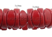Free shipping!!!Fashion Turquoise Bracelets,Christmas Gift, Synthetic Turquoise, red, 7x19mm, 7x16mm, Length:Approx 7 Inch