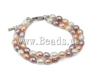 Free shipping!!!Freshwater Cultured Pearl Bracelet,Vintage, Cultured Freshwater Pearl, white, AAA, 7-8mm, Length:7.5 Inch