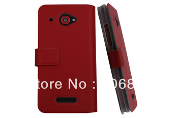 For HTC Droid DNA X920e Butterfly Hight quality Genuine Leather case with retail packing free shipping support dropship