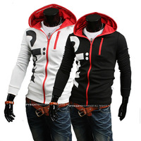 Free Shipping Stylish letters printed Men Slim Hooded sweater  US Size:XS,S,M,L       0221