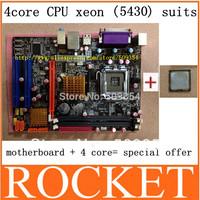 original! G41 desktop motherboard+5430 high level (2.66GHZ) 12 MB cache true quad-core INTEL CPU