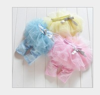 New arrives 2013 baby and girl legging summer/tutu flower skirt legging/ pink,blue,yellow /Wholesale and Retail Honey Baby HB202