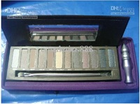 12 colors hot new Makeup eyeshadow Nake with 3.7ml primer eyeshadow nk 2palette 12x1.3g !