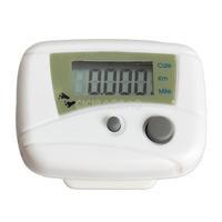 LCD Run Step Pedometer Walking Distance Calorie Counter Passometer White #gib