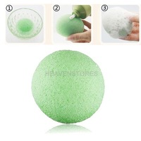 Natural Konjac Konnyaku Facial Puff Face Wash Cleansing Sponge Green  hv3n