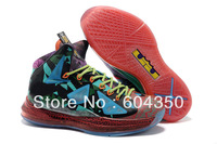 2013 NEW Latest LEBRON MVP Shoes 10 X Leather man sport brand with ticks