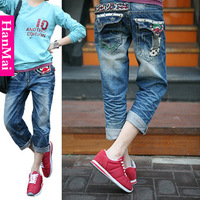 Summer denim 2013 women's breeched female loose clown embroidery plus size shorts 1104