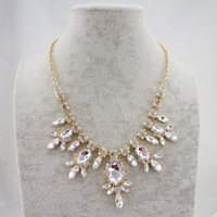 2013 New Arrival Fashion Gold Claw Waterdrop Crystal Elegent Statement Necklaces  Retail