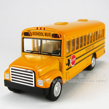 School bus side door schoolbus WARRIOR alloy car model toy