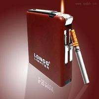 18- 20 ultra-thin scrub automatic cigarette case windproof cigarette lighter 3