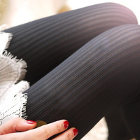 New arrival autumn and winter 80d vertical stripe thick multicolour pantyhose legging stockings  Free Shipping