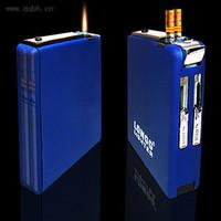 18- 20 ultra-thin scrub automatic cigarette case windproof cigarette lighter