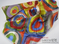 Silk mulberry silk belt female silk scarf silk scarf large facecloth colorful circle