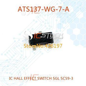 ATS137-WG-7-A IC HALL EFFECT SWITCH SGL SC59-3 ATS137-WG-7-A 137 ATS137 S137 TS137 ATS137-WG-7