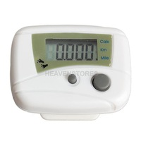 LCD Run Step Pedometer Walking Distance Calorie Counter Passometer White hv3n