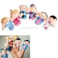 6Pcs Family Finger Puppets Cloth Doll Baby Educational Hand Toy Story Kid K5BO