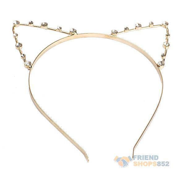 #F9s Sexy Cat Ear Girl Head Band Beaded Hair Band Metal Fashion Gold(China (Mainland))