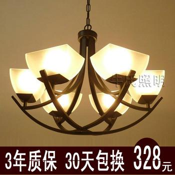 Fashion iron pendant light living room lights restaurant lamp bedroom pendant light brief modern chinese style lamp antique