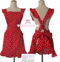 Wholesale Polka dot fashion aprons beauty work aprons lounge oversleeps