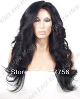 Free shipping premiumed kanekalon Futura fiber synthetic lace front wig