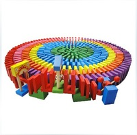 120pcs/pack 10 colored dominoes Children Kids  Educational Wooden toys Authentic Standard   wholesale
