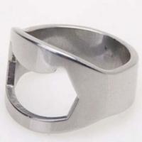 Free shipping 1pcs New Silver Stainless Steel Finger Ring Bottle Wine Opener Bar Beer Waiter M2108