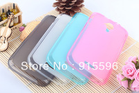 10pcs/lot TPU Pudding Case For Fly IQ451 Vista Phone Cover Clear Pink Color Free Shipping