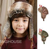 New Arrival 1 Piece Retail USA Knight Label Design Winter Warm Thicken Velvet Earmuffs Children Hats Headwear Kids Snow Caps