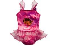 lovely dora pattern swimwear kids babies girls sleeveless dress bathing suits cute summer child's kids' swimsuit  Free Shipping