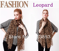 New Ladies Leopard Scarves Autumn Winter Super Long Warm Fashion Joker Shawls Women Scarf C0843