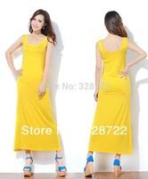 Free Shipping Wholesale 3pcs/Lot Women's Beach Style Long Black and White Striped Dress