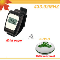 433.92MHZ More efficient Restaurant equipment for sale w 1 wrist display and 10 buttons CALL,BILL,CANCEL  free shipping free