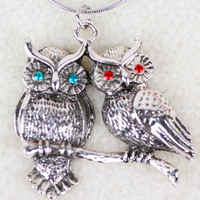 Min order is $10 (mix order) The fair maiden temperament  A pair of owl  pendant necklace, Free shipping