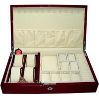 Bd casked cosmetic box jewelry cufflinks storage box storage box quality paint double layer