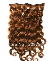Most Beautiful Strongest Clips ,Free Shipping, 100g / Pack,  3 packs /Lot, Grade 5A , 100% remy Brazilian clip in hair extension