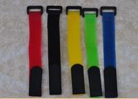 20mm *260mm Velcro Lipo Battery Strap Reusable Cable Tie Wrap 60pieces/lot