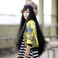 2013 1 meters fashion oblique bangs , corn roll scroll wig 1405