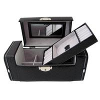 Bd leather jewelry box cosmetic box jewelry accessories storage box cuff multi-layer Medium storage box
