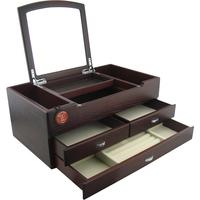 Wood jewelry box multi-layer necklace jewelry box bracelet jewelry storage box cosmetic box wood dresser
