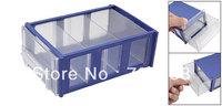 Blue Clear Hard Plastic Drawer Components Holder Organizer