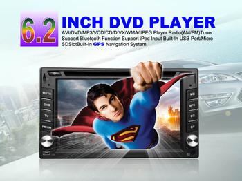 HYUNDAI SONATAFE HD in dash 2din head unit 6.2inch Car CD SD Usb Mp3 DVD Player GPS  Can Choose logo Button Bule Light Color