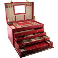 Bd leather jewelry box cosmetic box jewelry quality multi-layer storage box jewelry box extra large