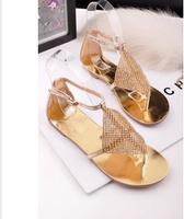 Summer ! beautiful rhinestone steve elegant pedicure white pinch flat sandals madden women's shoes