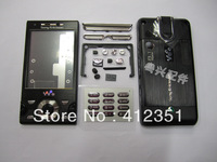 Black New Original Full Housing case cover + buttons FOR Sony Ericsson W995 W995i Free Shipping